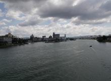 auf der dreiländerbrücke // sur la passerelle des trois pays